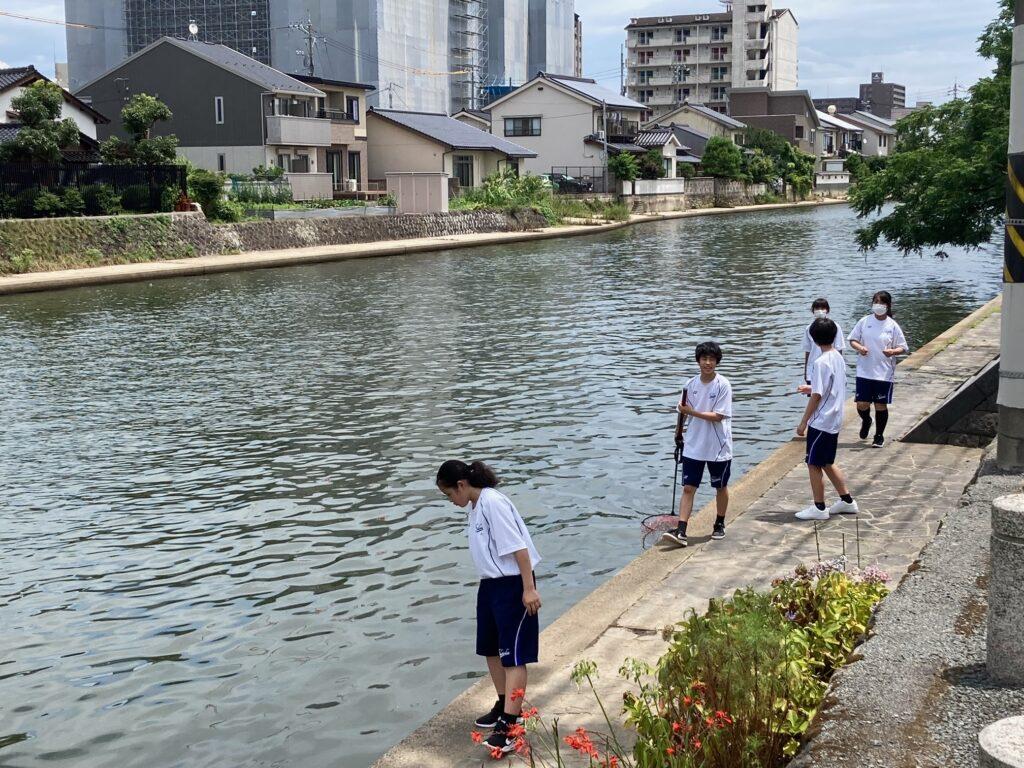 水質調査へ中学1年生と2年生が行って来ました